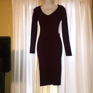 Burgundy fashion nova sweater dress large